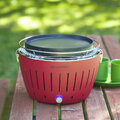 Lotus Grill - Portable Charcoal Grill - Mini - Red