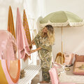 Sunnylife - Terry Towel Tote - Call Of The Wild - Blush Pink