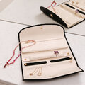 Rapport - Aria Smooth Leather Jewellery Roll - Black