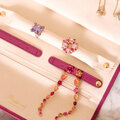 Rapport - Aria Smooth Leather Jewellery Roll - Lilac