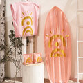 Sunnylife - Ride With Me Surfboard Float - Desert Palms - Powder Pink