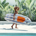 Sunnylife - Ride With Me Surfboard Float - Shark Attack - Silver