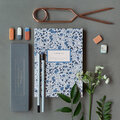Katie Leamon - A5 Notebook With Pencils & Erasers Set - Wild Aster