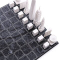 Skyline Chess - Acrylic Chess Set with Wooden Board - New York