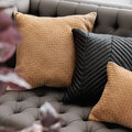 Luxe - Leather Weave Cushion - 50x50cm - Tan