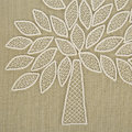 Mulberry Home - Crafted Mulberry Tree Pillow - Ivory/Sand - 50x50cm