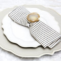 Luxe - Natural Agate Napkins Rings