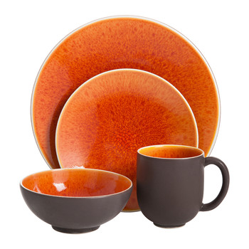 Tourron Orange Tableware