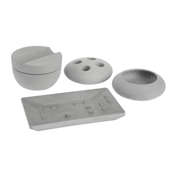 Grey Bathroom Accessory Set