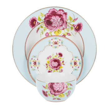 Floral Tableware Collection - Blue