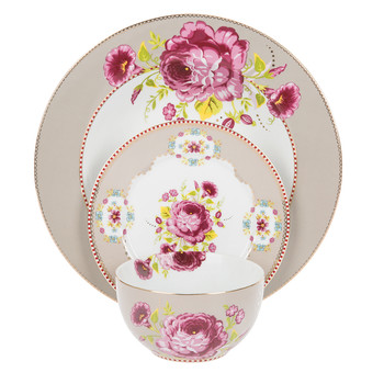 Floral Tableware Collection - Khaki