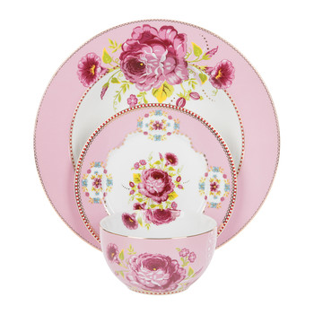 Collection vaisselle Floral - Rose