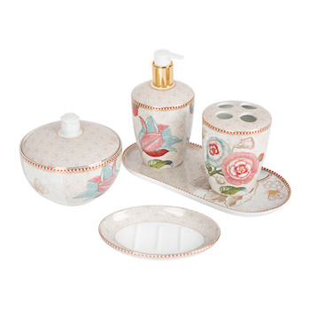Spring to Life Bathroom Accessory Set - Off White