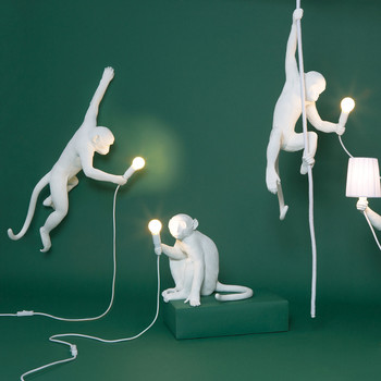 Monkey Lamp White Collection