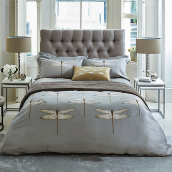Demoiselle Graphite Bed Linen