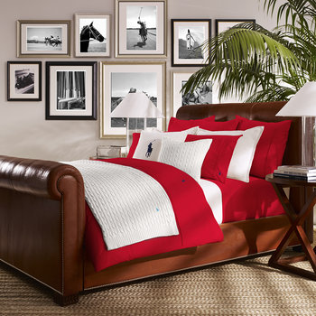 Polo Player Bed Linen - Red Rose