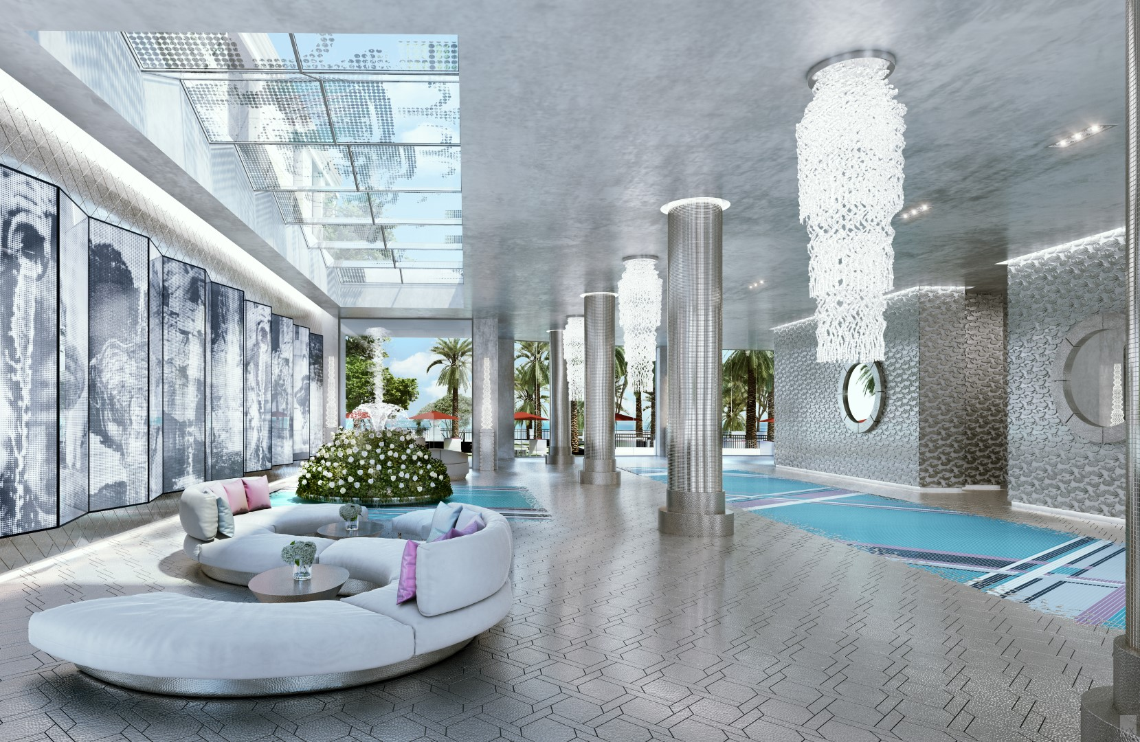 The South Tower Lobby Rendering | Image Credit: The Trump Group