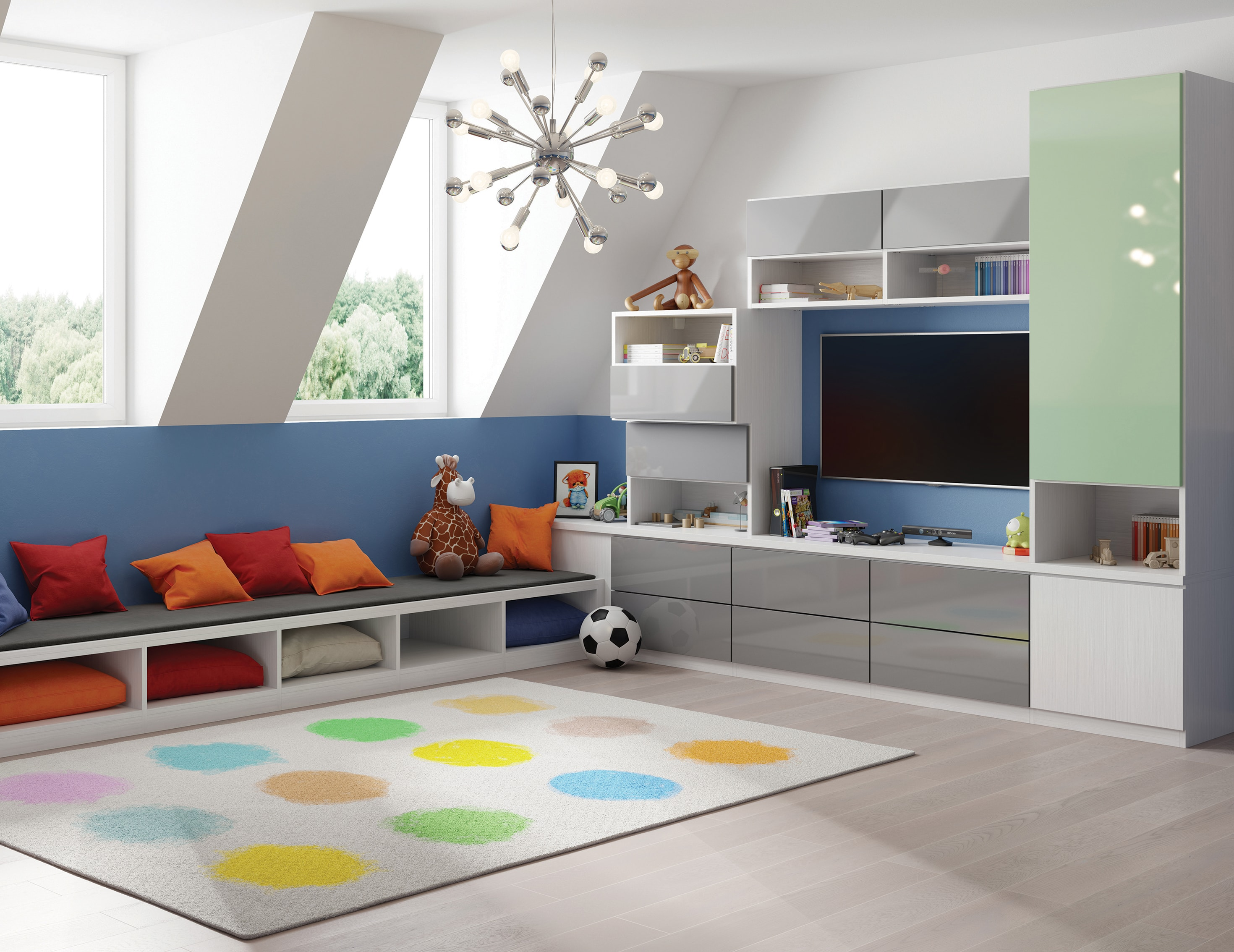 California Closets Attic Playroom