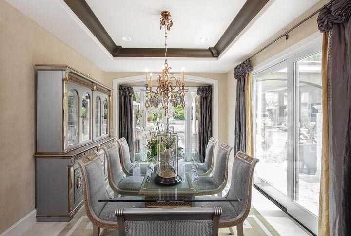 Orange Coast Interior Design California Luxury Dining Room