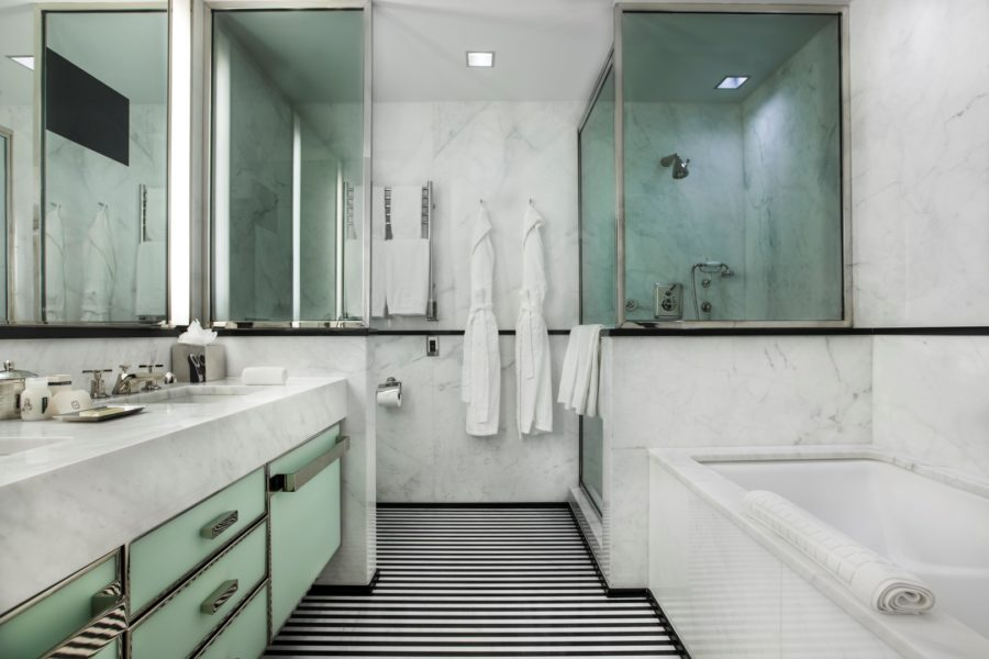 The bathroom in a suite at The Mark Hotel, NYC