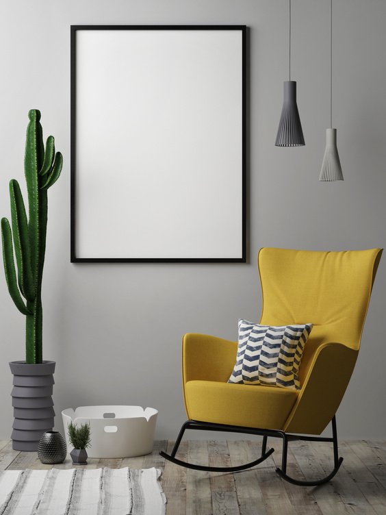 tall cactus in living room