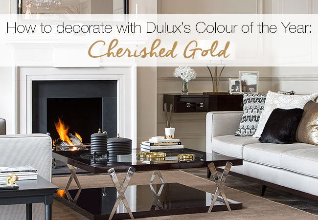 how to decorate with dulux s colour of the year cherished gold