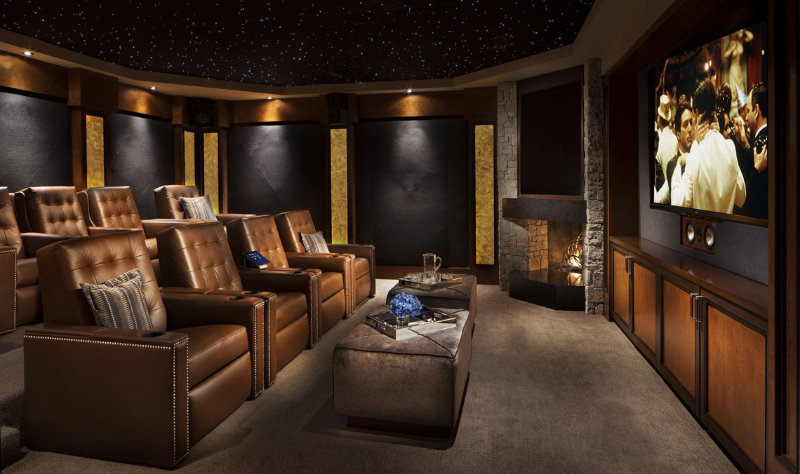 Willetts Design California Home Theater Interior