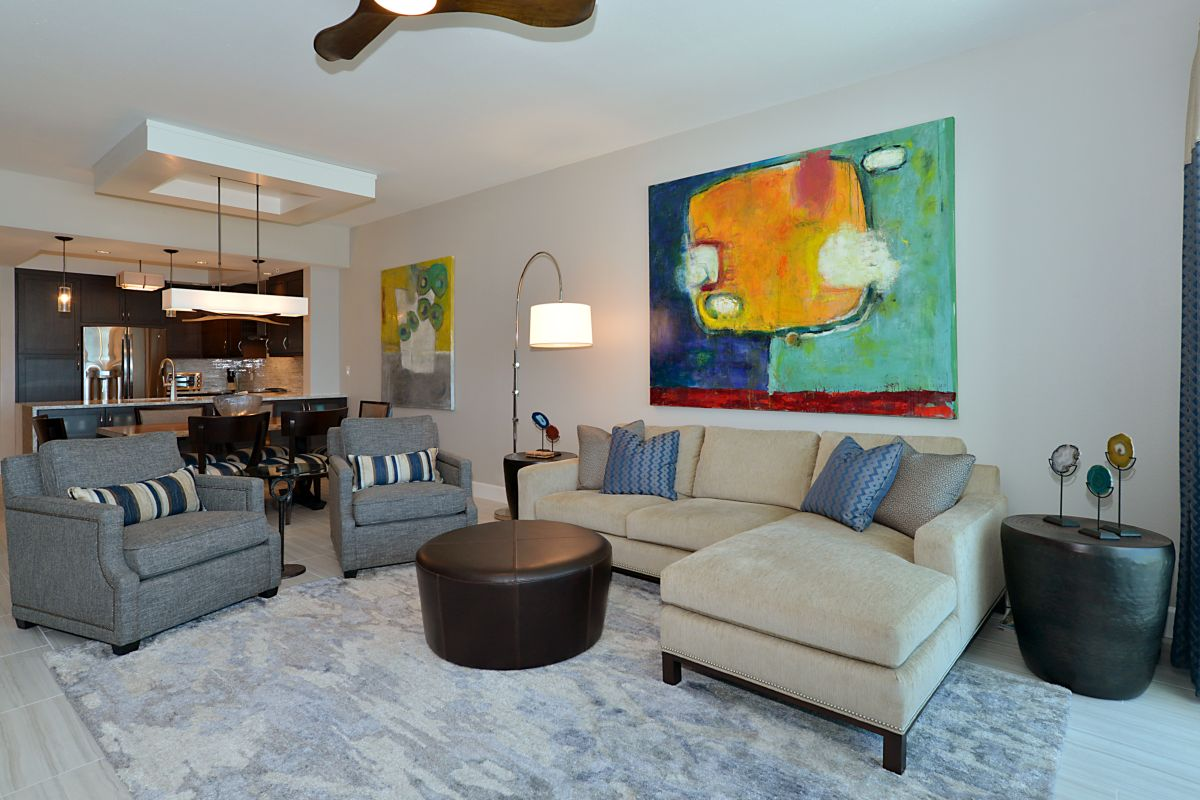 Decker Ross Interior Designers Florida Living Room