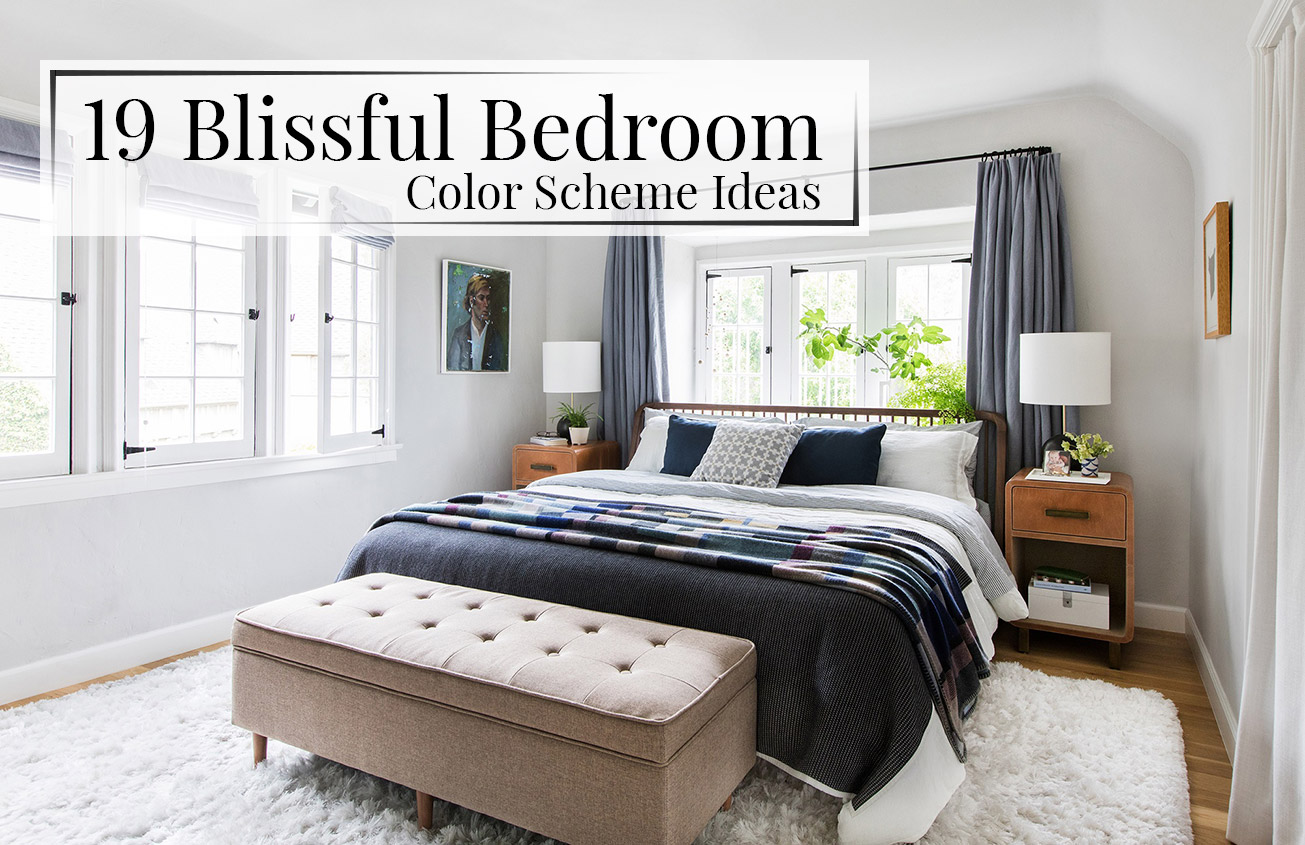 19 blissful bedroom color scheme ideas the luxpad for Bedroom inspiration color palette